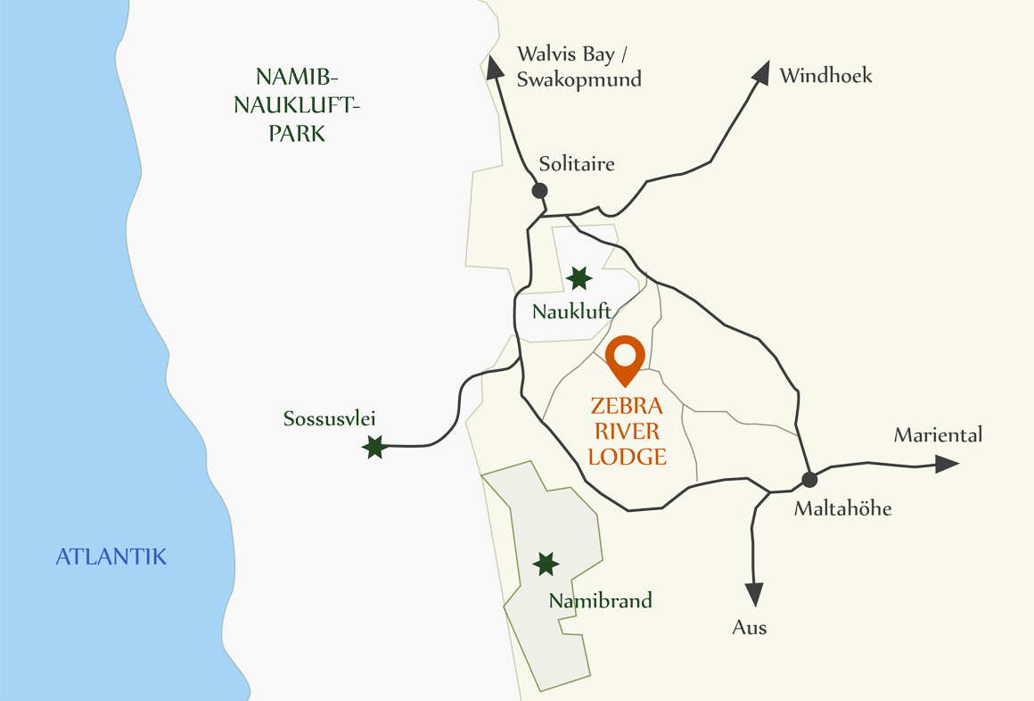 Map Zebra River Lodge